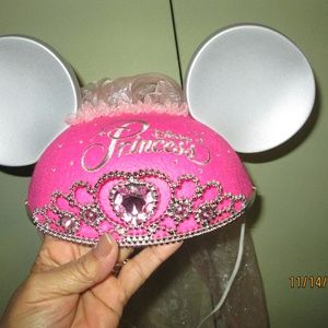 NEW Disney Parks Princess Mickey Mouse Ear Hat
